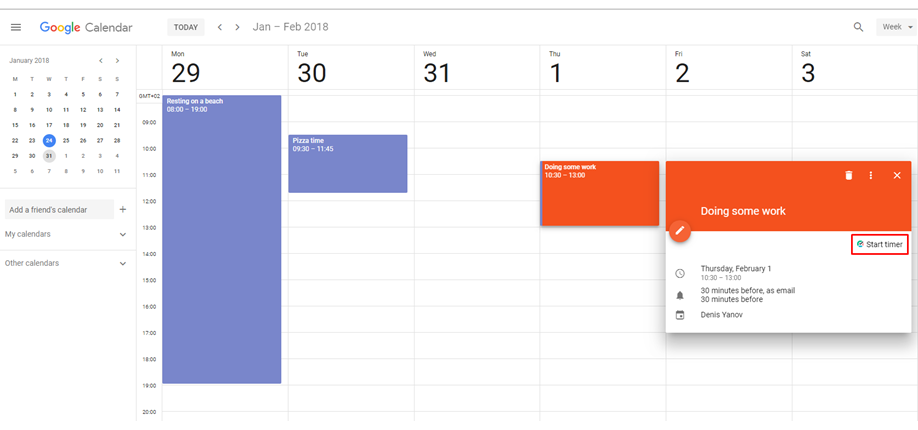 Google Calendar Time Tracking with TMetric1