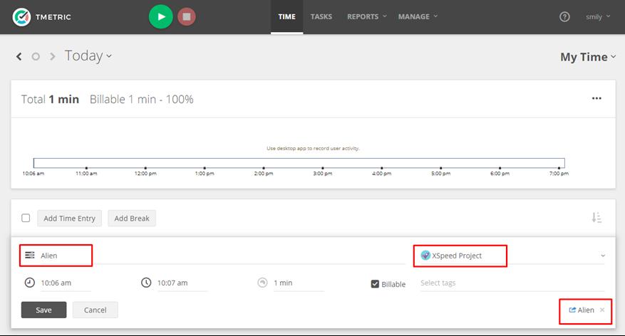 Wunderlist Time Tracking Integration