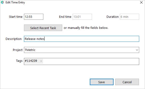 Adding a task