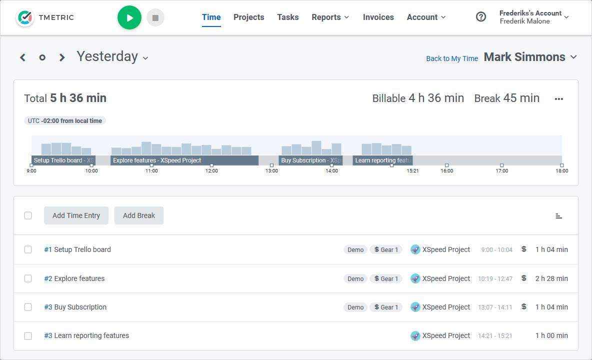 Free Time Tracking Software & App - TMetric