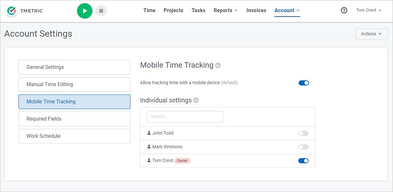 Mobile Time Tracking